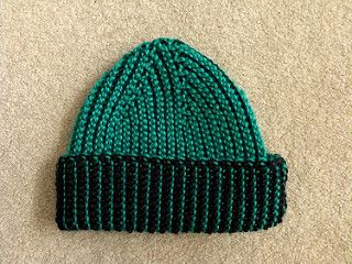 81a8c65035d 2-color Tunisian crochet Mio s Hat pattern by Becky Simmons (free pattern)
