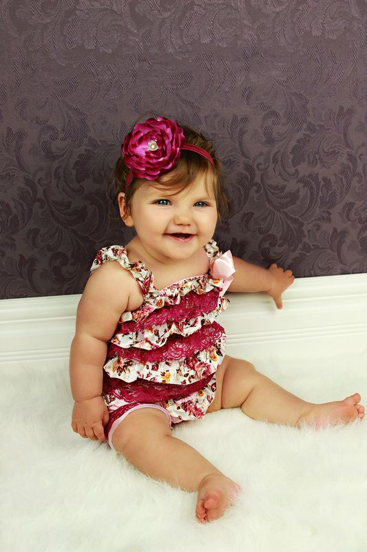 Floral and Lace Ruffle Lace Rompers with Straps - Sweet N' Stylish Kids Accessories.