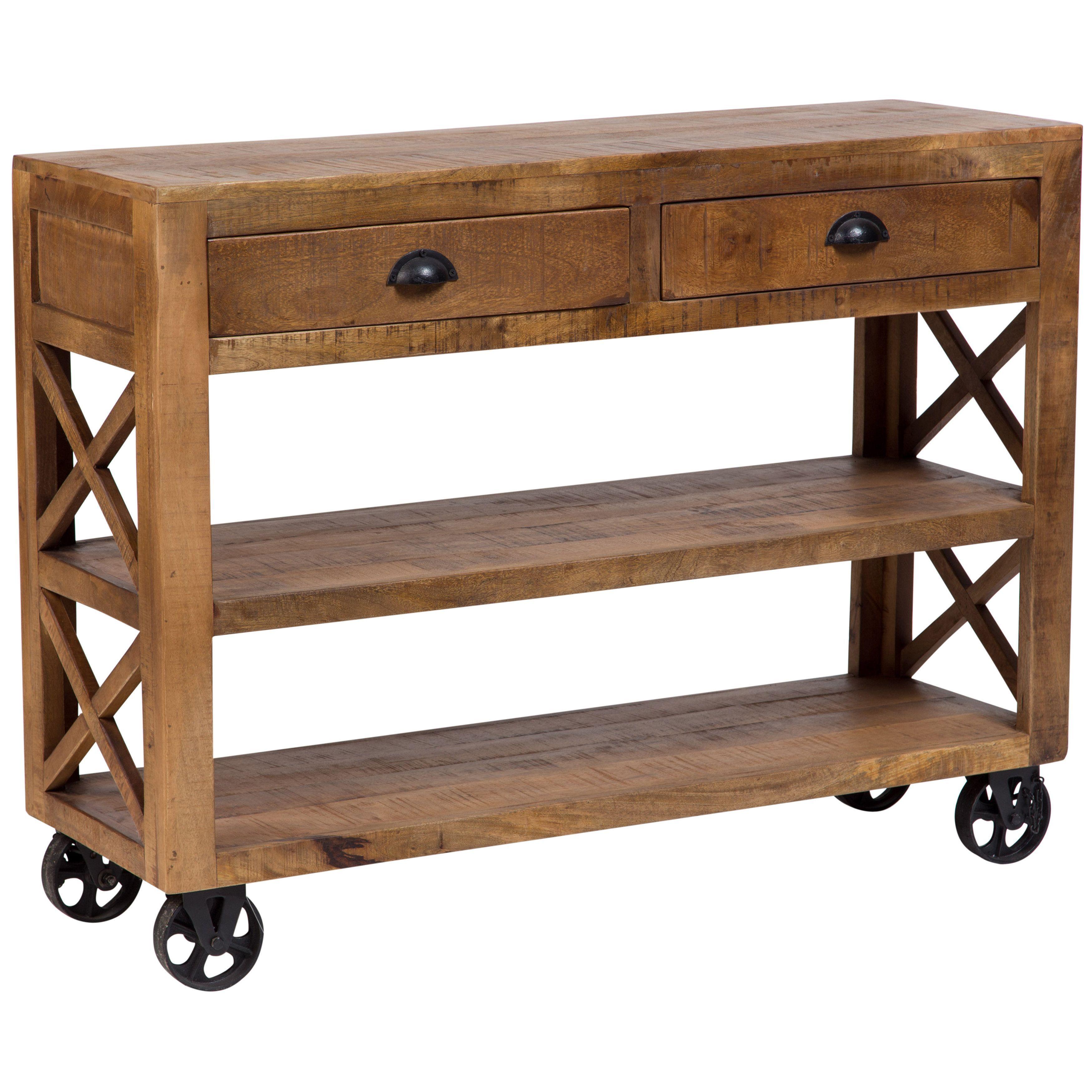 Porter International Designs Wanderloot Barn Door Wooden Trolley