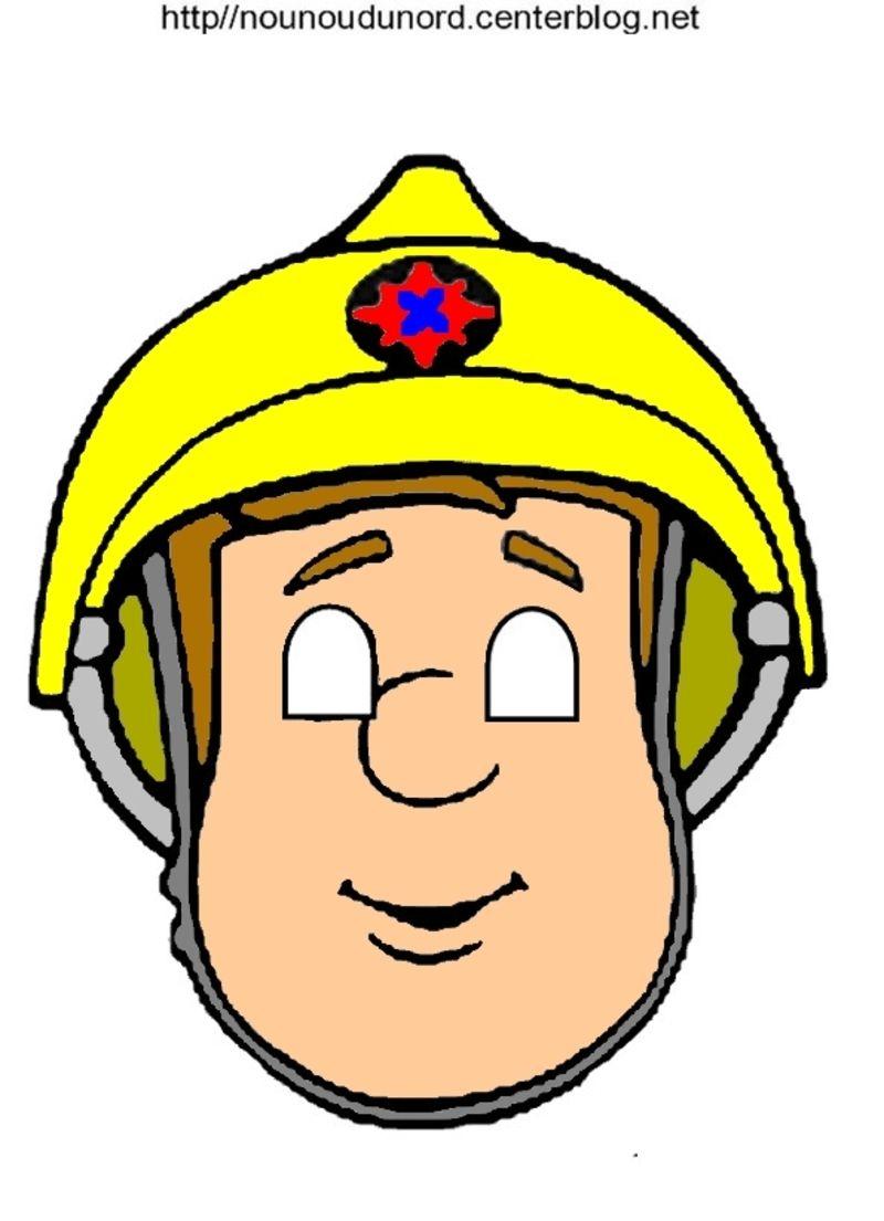Masque sam le pompier paw patrol sam le pompier anniversaire sam le pompier et pompier - Coloriage sam le pompier imprimer ...