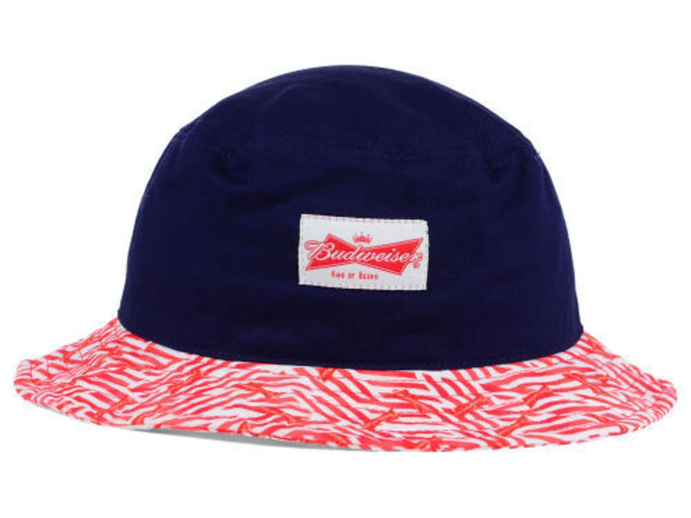 BUDWEISER NAVY RED WHITE BUCKET HAT CAP ONE SIZE FITS ALL KING OF BEERS   fashion  clothing  shoes  accessories  mensaccessories  hats  ad (ebay  link) 6fa2af3b92d
