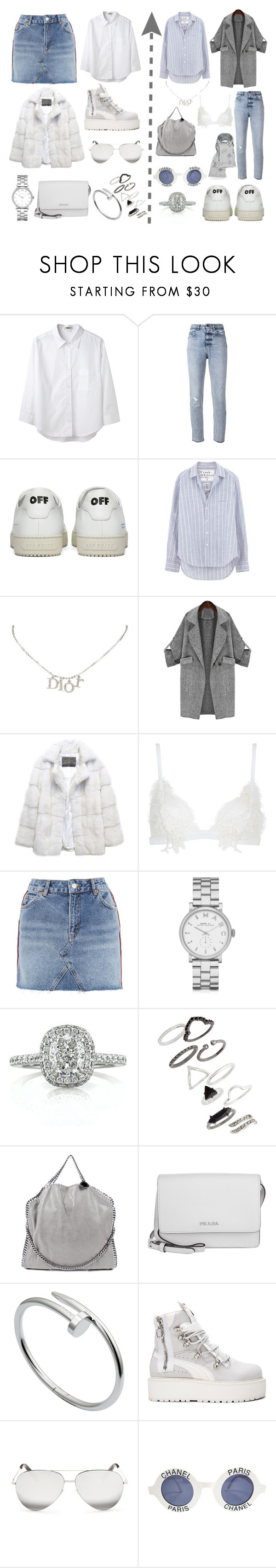 """b a d. a n g e l"" by ccccroy on Polyvore featuring Mode, Acne Studios, Golden Goose, Off-White, Frank & Eileen, Christian Dior, Lilly e Violetta, For Love & Lemons, Topshop und Marc by Marc Jacobs"