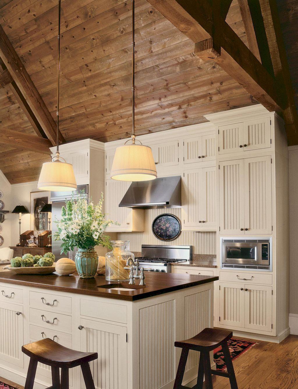 40 stunning farmhouse kitchen ideas on a budget (35)   Kitchen ...