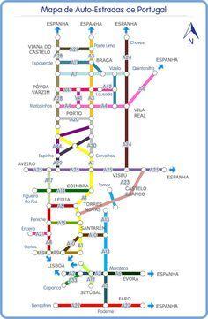 Mapa De Carreteras Portugal.Mapa Autopistas Peaje Portal De Estradas Rutas Camp