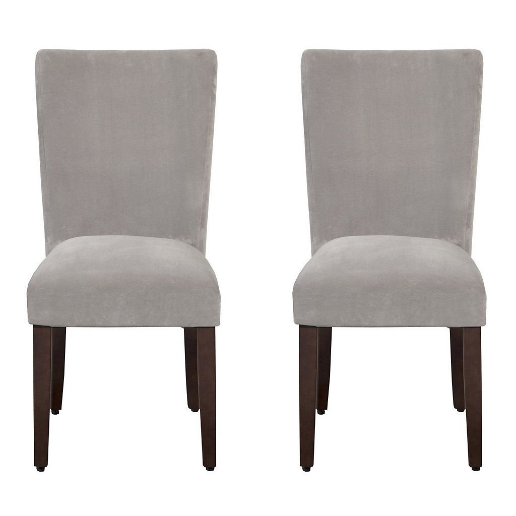 HomePop Velvet Dining Chair 2-piece Set images