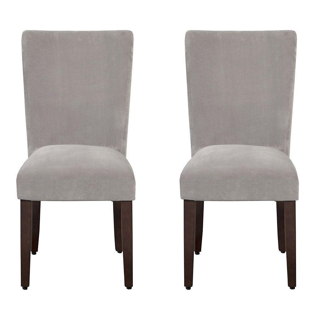 HomePop Velvet Dining Chair 2-piece Set images