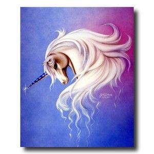 Magical White Unicorn Kids Wall Picture Art Print   eBay