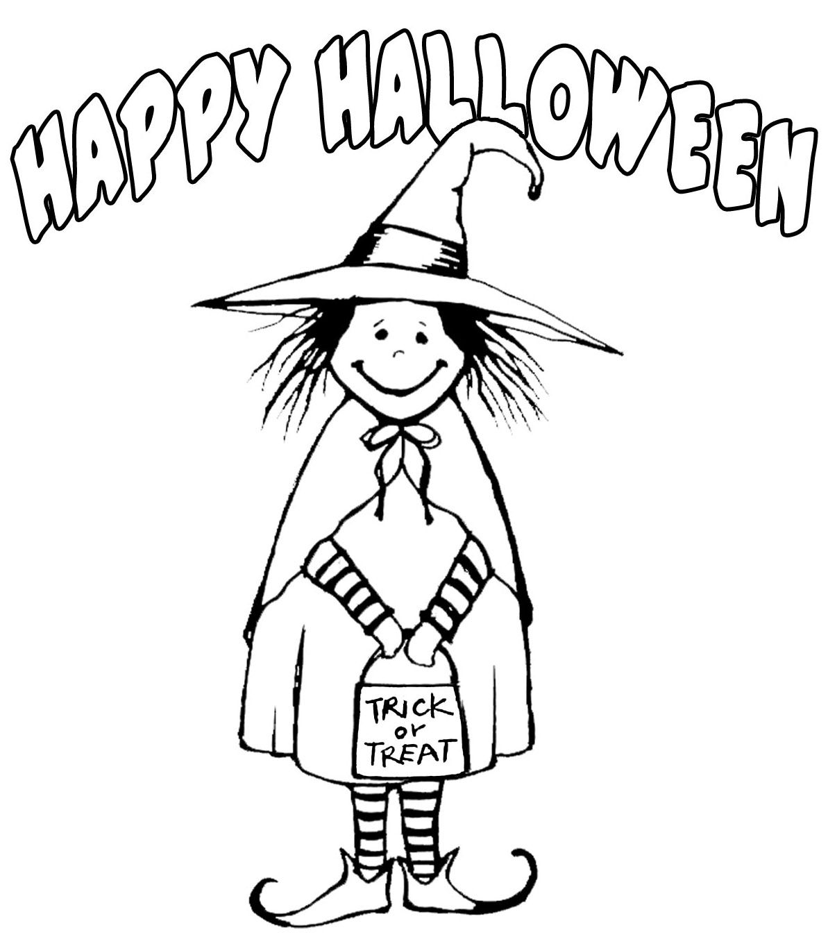 here are two happy halloween signs for you to print and colour in and perhaps - Pictures Of Witches To Colour In