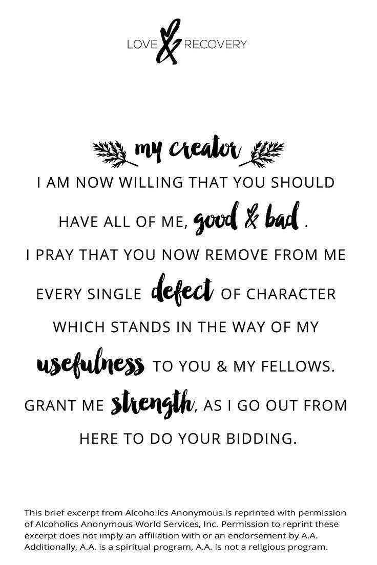 The 7th step prayer .   Addiction - Food Addiction   Pinterest ...