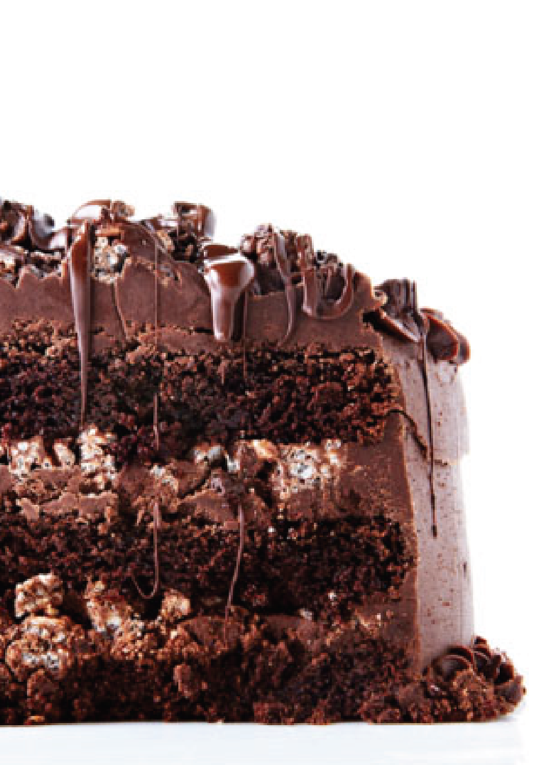 Double Chocolate Layer Cake with Rice Krispie Crunch | Chocolate crunch, Chocolate  rice krispies, Rice krispies