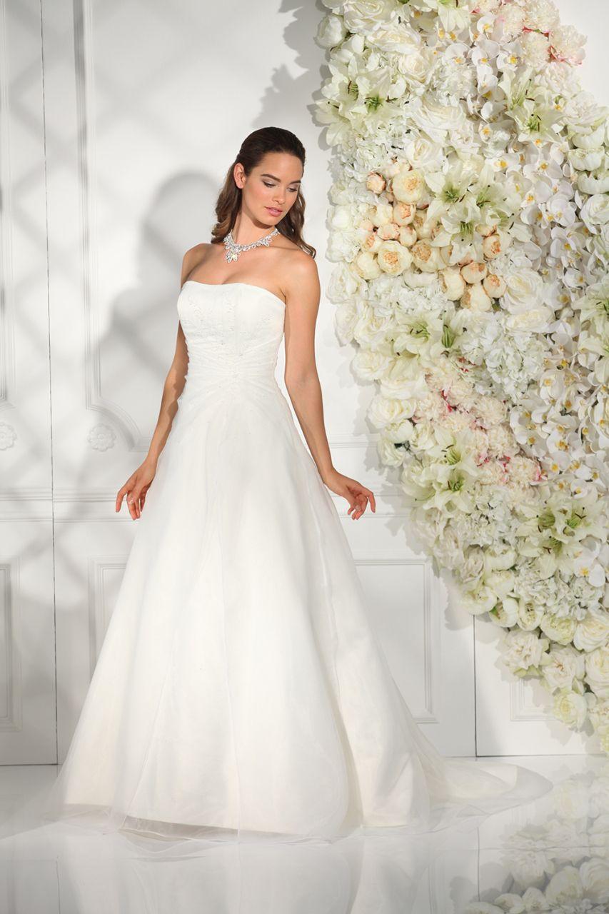 Brautkleid schlicht trager