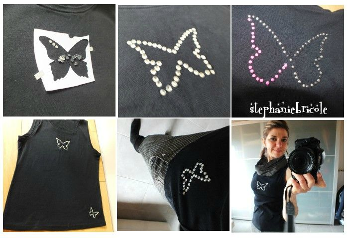 diy couture recup suite encore des vieux habits transform s et ou customis s papillon. Black Bedroom Furniture Sets. Home Design Ideas