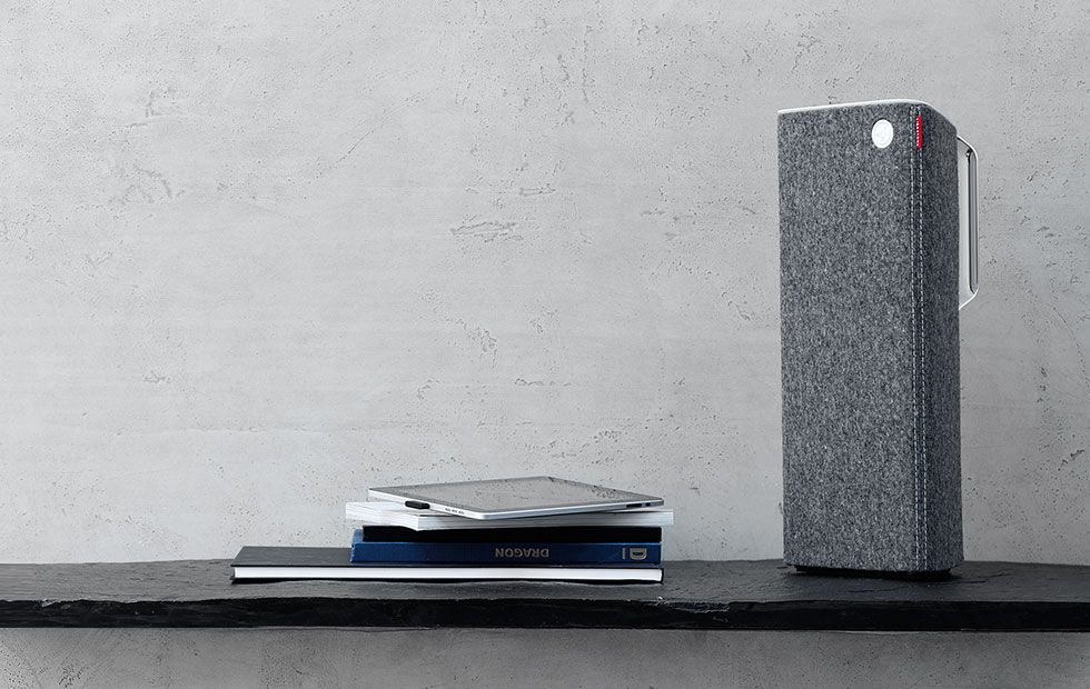 Wool covered speaker by Libratone