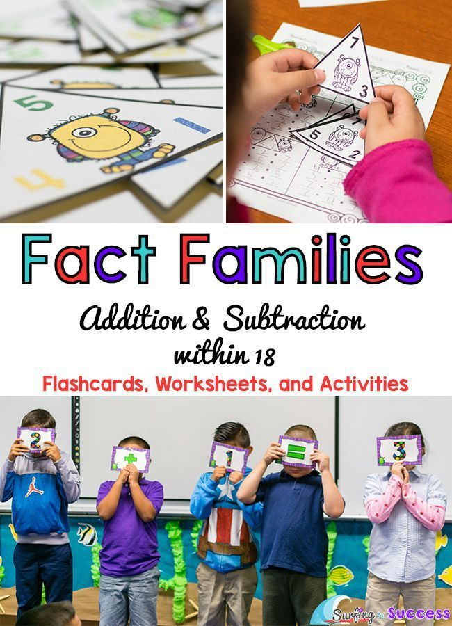 Fact Families Add and Subtract within 18 Fact families, Math