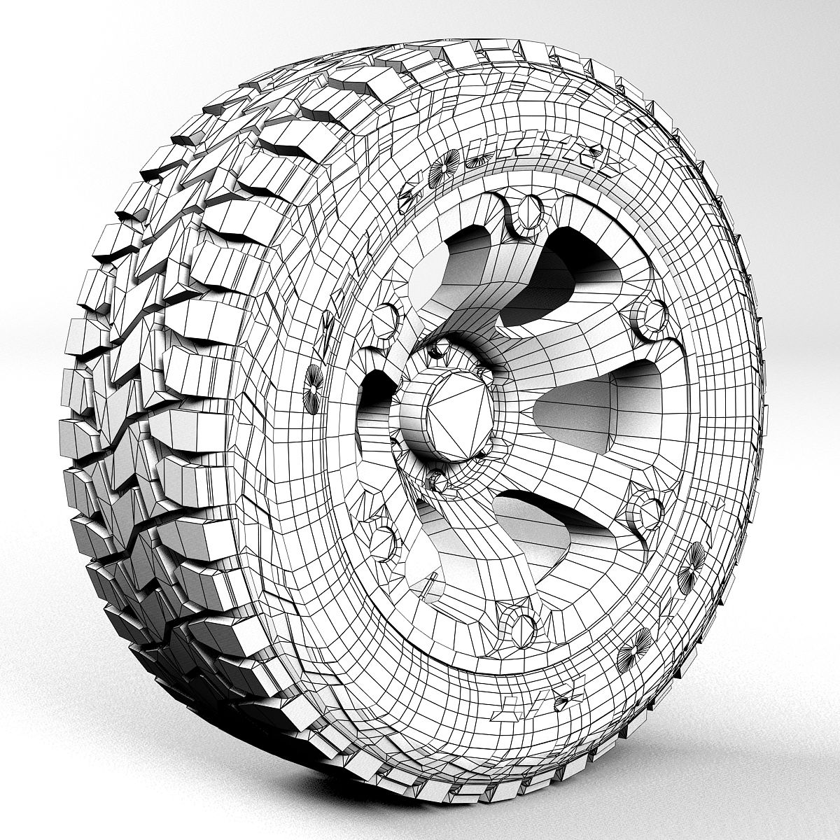 Off road wheel and tire Toyo RT 3D Model | Download Royalty Free