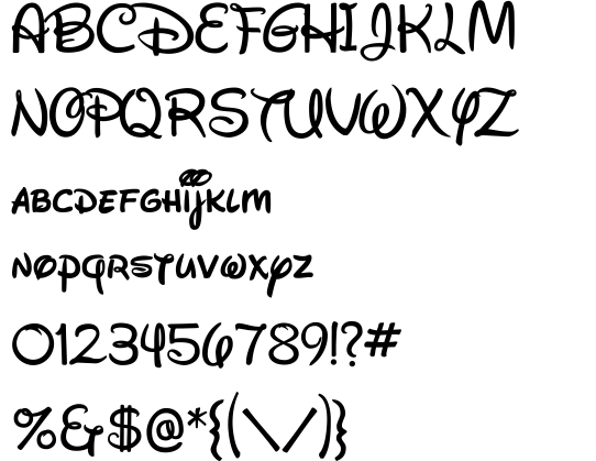 Waltograph font by Justin Callaghan - FontRiver | Disney ...