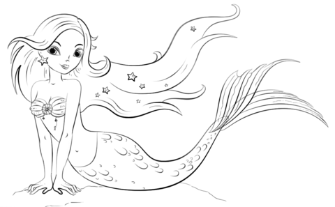 Mermaid coloring page from Mermaid category. Select from 20946 ...