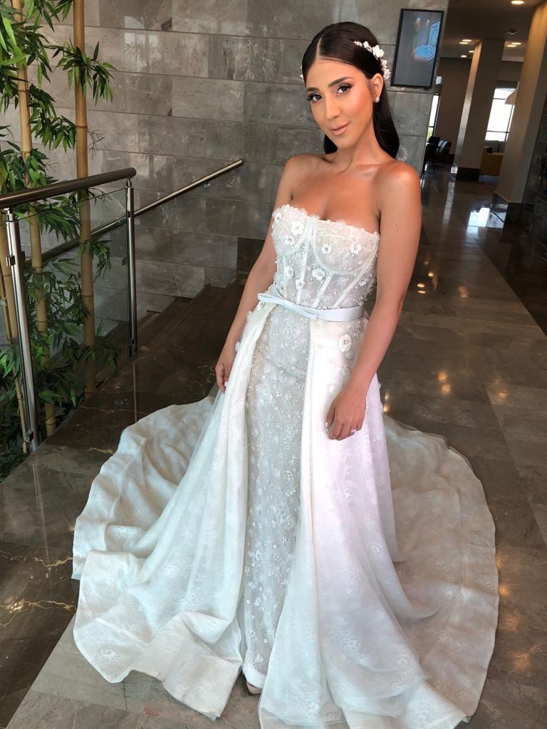 Lee Grebenau Bride Wearing Gigi Wedding Dresses Corset Mermaid Wedding Dress Corset Wedding Dress Corset Top [ 1024 x 768 Pixel ]