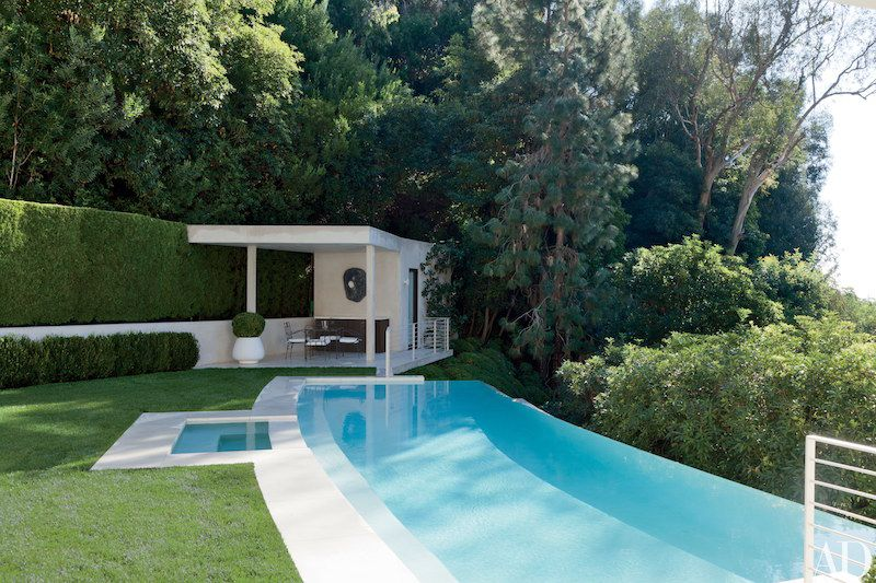 Swimming pool guest house home design pools pool for Pool design hillside
