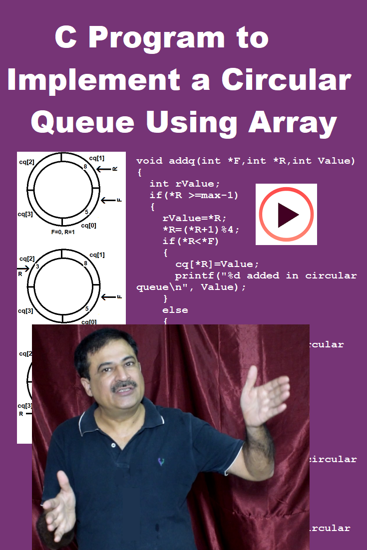 This video tutorial is on how to create a circular queue using array