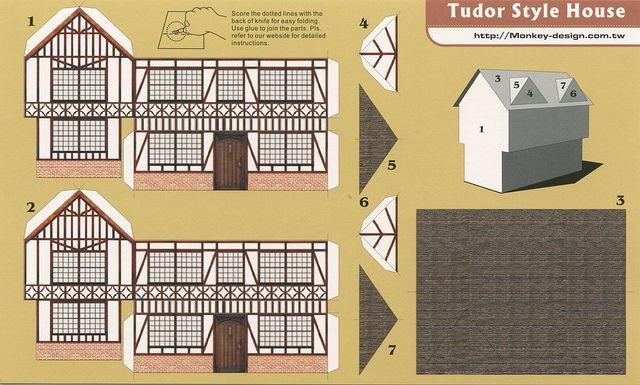 Tudor Style House Cut Out Postcard Flickr Intercambio De Fotos