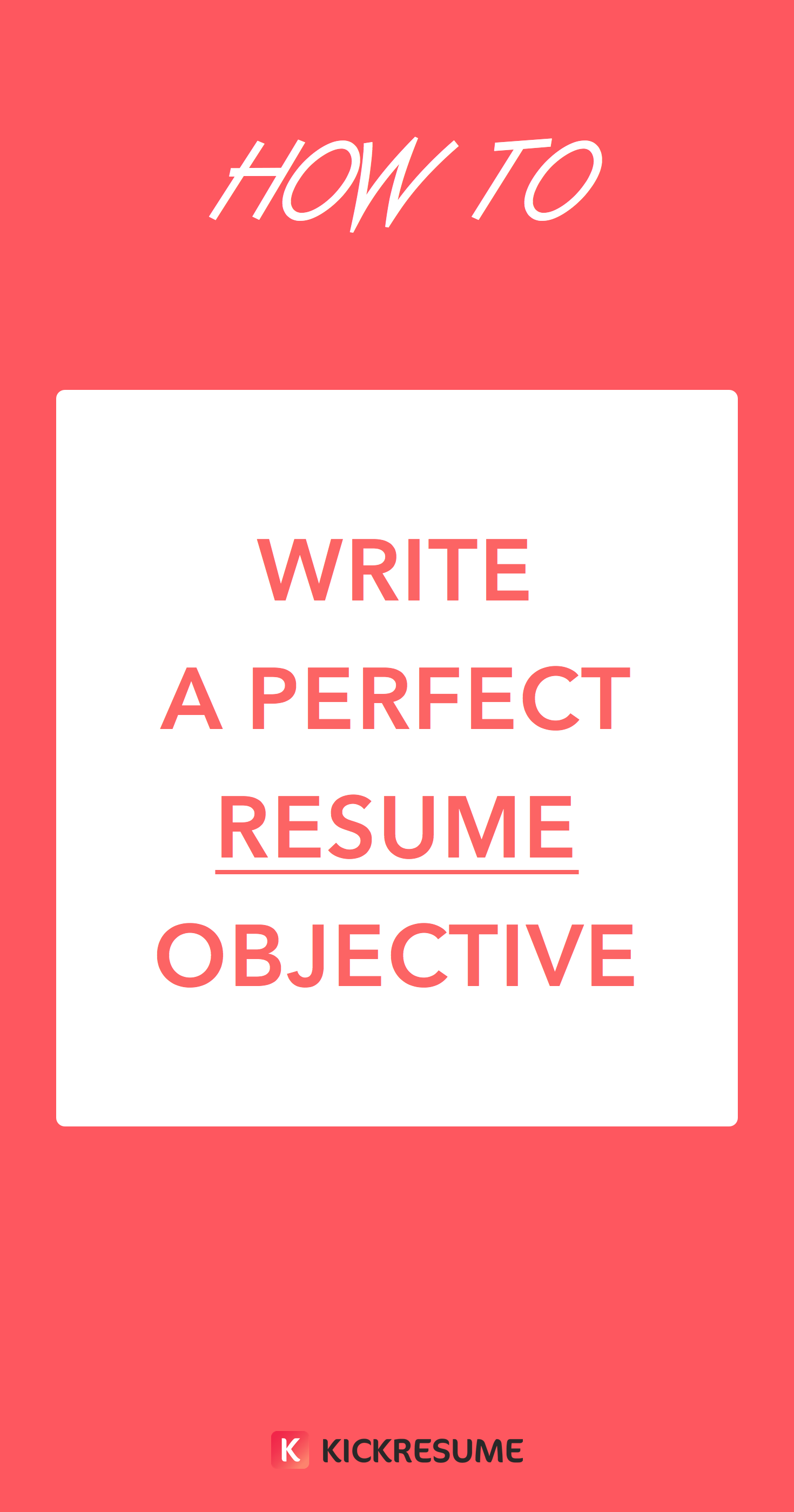 Tips For A Perfect Resume How To Write A Perfect Resume Objective Examples Included