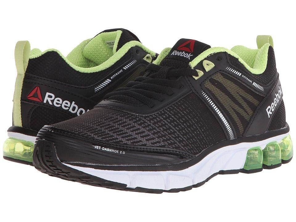 REEBOK REEBOK - JET DASHRIDE 2.0 (BLACK/WHITE/LUMINOUS LIME/SEAFOAM GREEN.  ReebokLimesJetsRunning ShoesBlack WhiteWomanGreenRacing ...