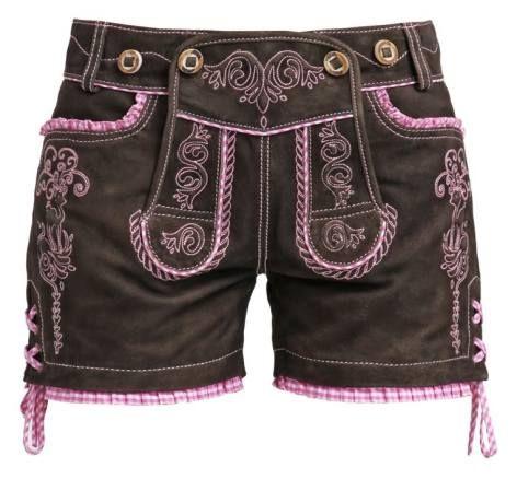 Krüger Dirndl Ledo Pantalonoi Braun Pink ropa pantalones Pink Pantalonoi Ledo Krüger Dirndl Braun Noe.Moda