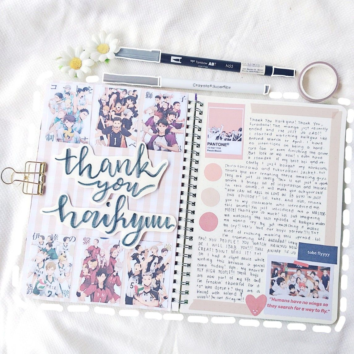 Thank You Haikyuu Journal Bullet Journal Books Bullet Journal Writing Bullet Journal Ideas Pages