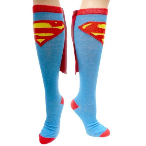 f4d3df87fcf Put a genetically enhanced spring in your step with these fully licensed Superhero  Caped Socks