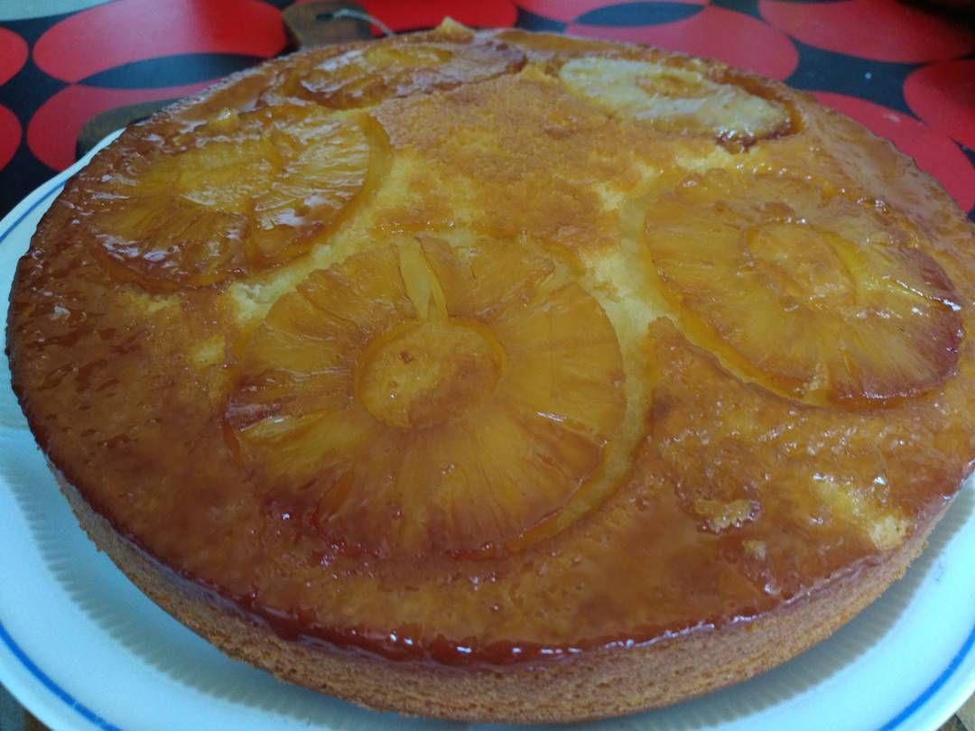 #faitbienfaitmain ma pâtisserie du jour gâteau à l'ananas... Pas perdre la main.