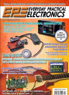 Free Download Everyday Practical Electronics April 2018 Magazine