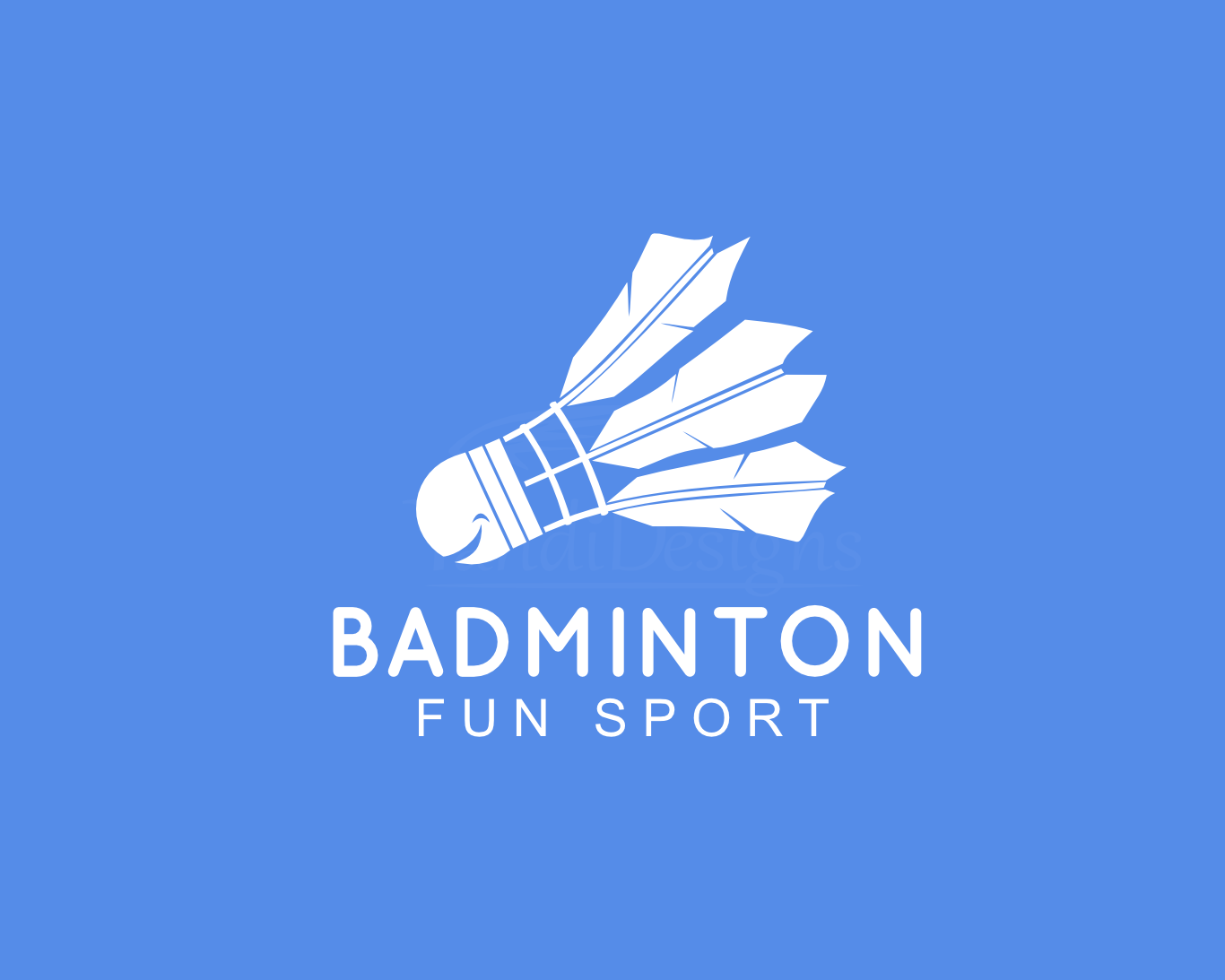 Design t shirt badminton - Badminton Fun Sport Logo Design