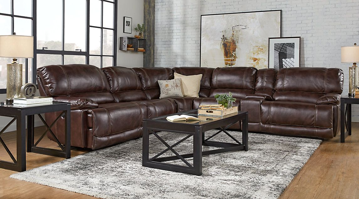 Pleasant Dawson Valley Burgundy 6 Pc Power Reclining Sectional For Dailytribune Chair Design For Home Dailytribuneorg