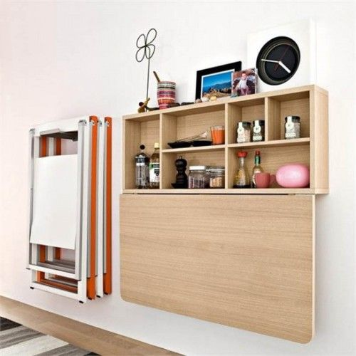 10 Ideas To Use Small Folding Tables On A Kitchen Shelterness Wall Mounted Table Kitchen Wall Mounted Dining Table Wall Mounted Table