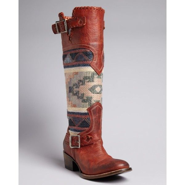 FREEBIRD by Steven Tall Western Boots - Quixote ($450) ❤ liked on Polyvore