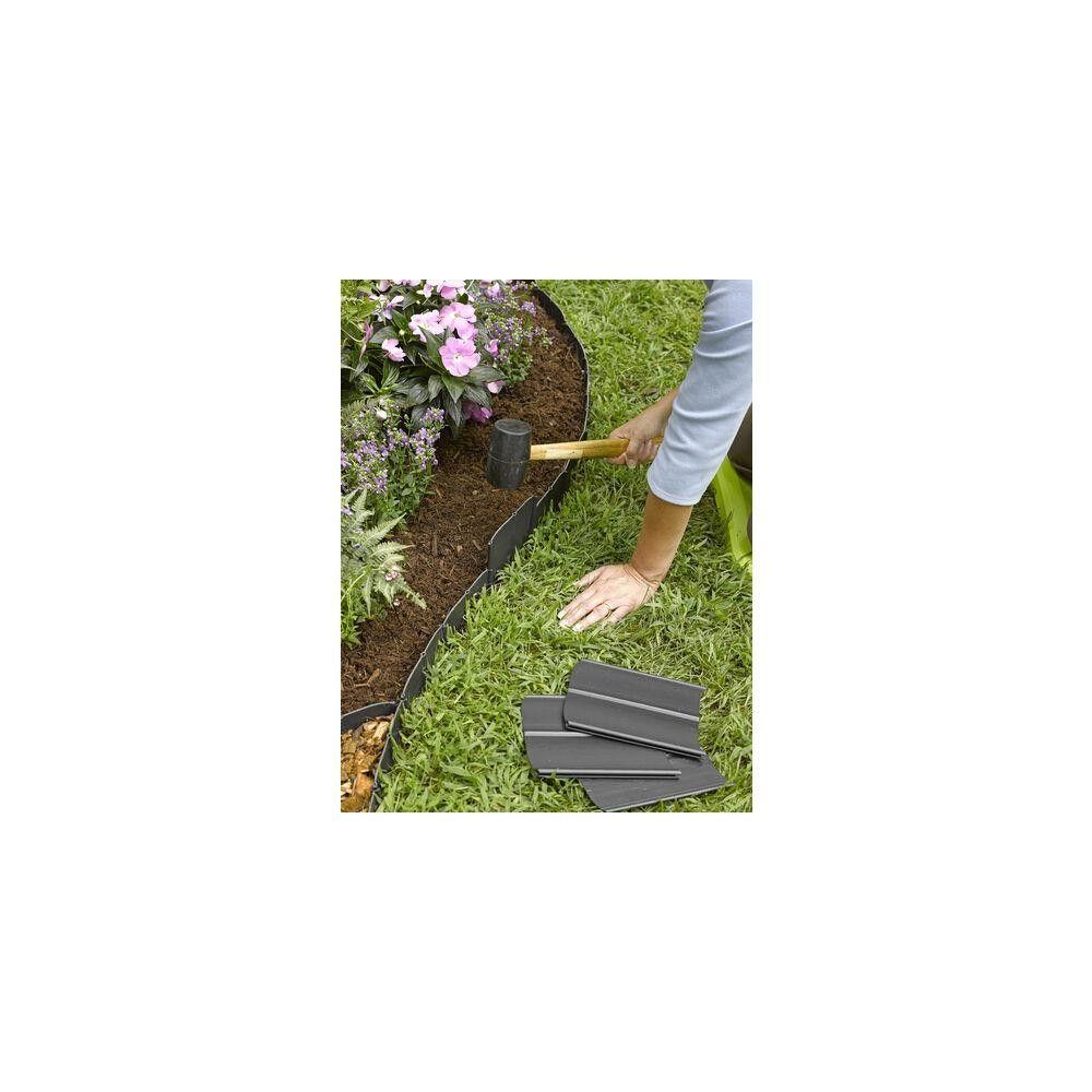 Easy No Dig Pound In Interlocking Landscaping Edging Kit 8