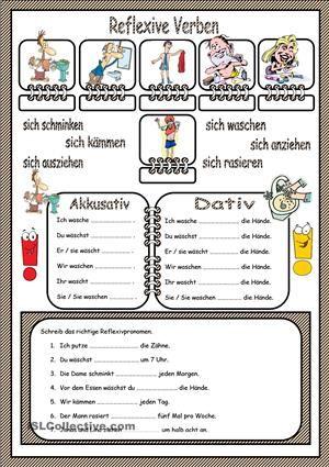 reflexive verben reflexive verben mit pr p und deutsche sprache verben und deutsche. Black Bedroom Furniture Sets. Home Design Ideas