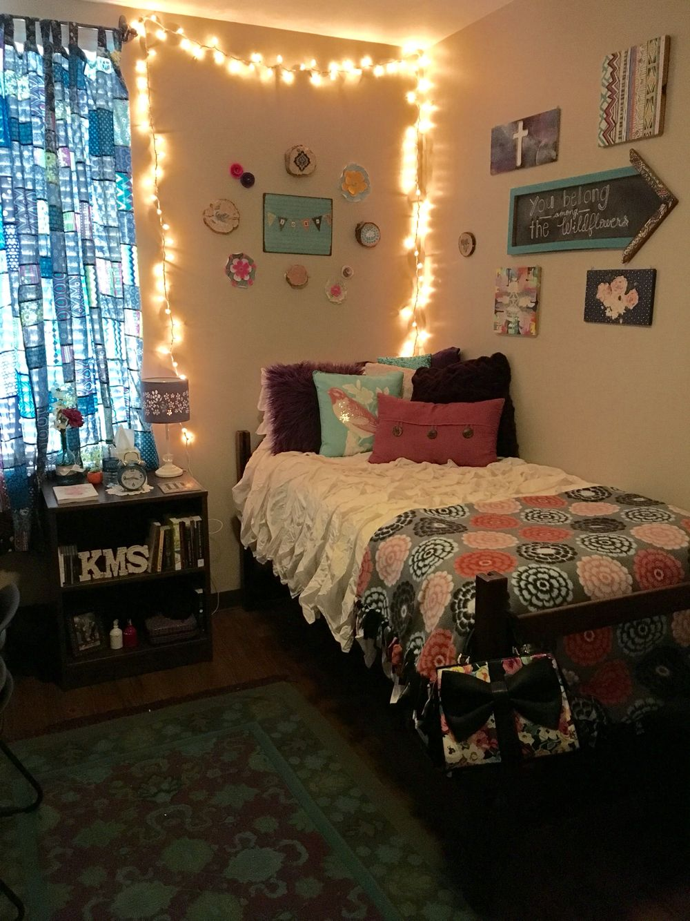 Dorm Room TTU Talkington Bedding From Pottery Barn Curtains And Rug Urban Outfitter