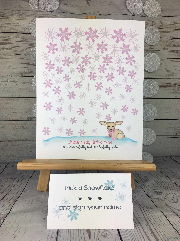 Girls Fingerprint Tree keepsake Guest book alternative Bambi and Mum