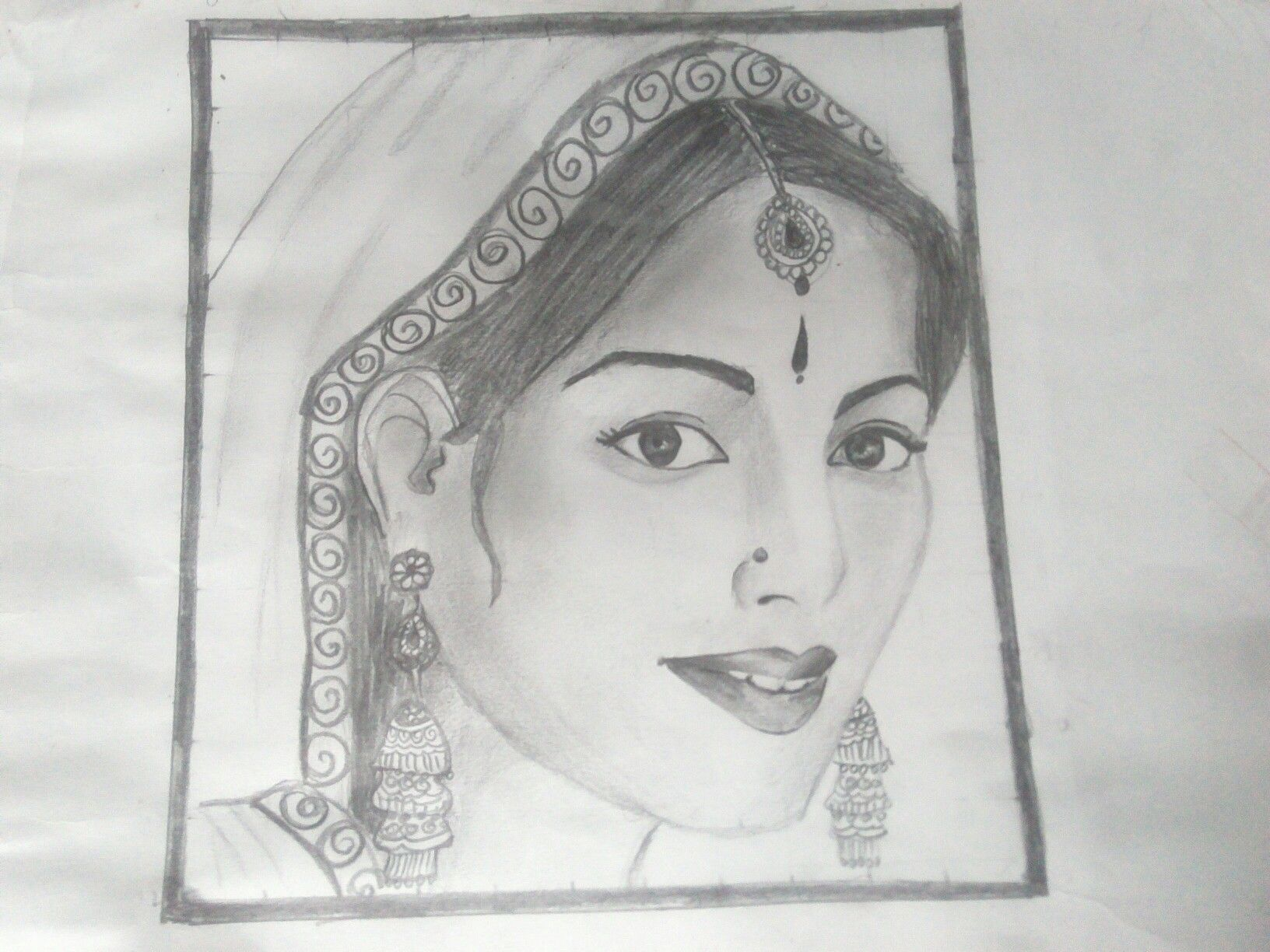 Indian traditional lady traditional sketches indian lady drawings