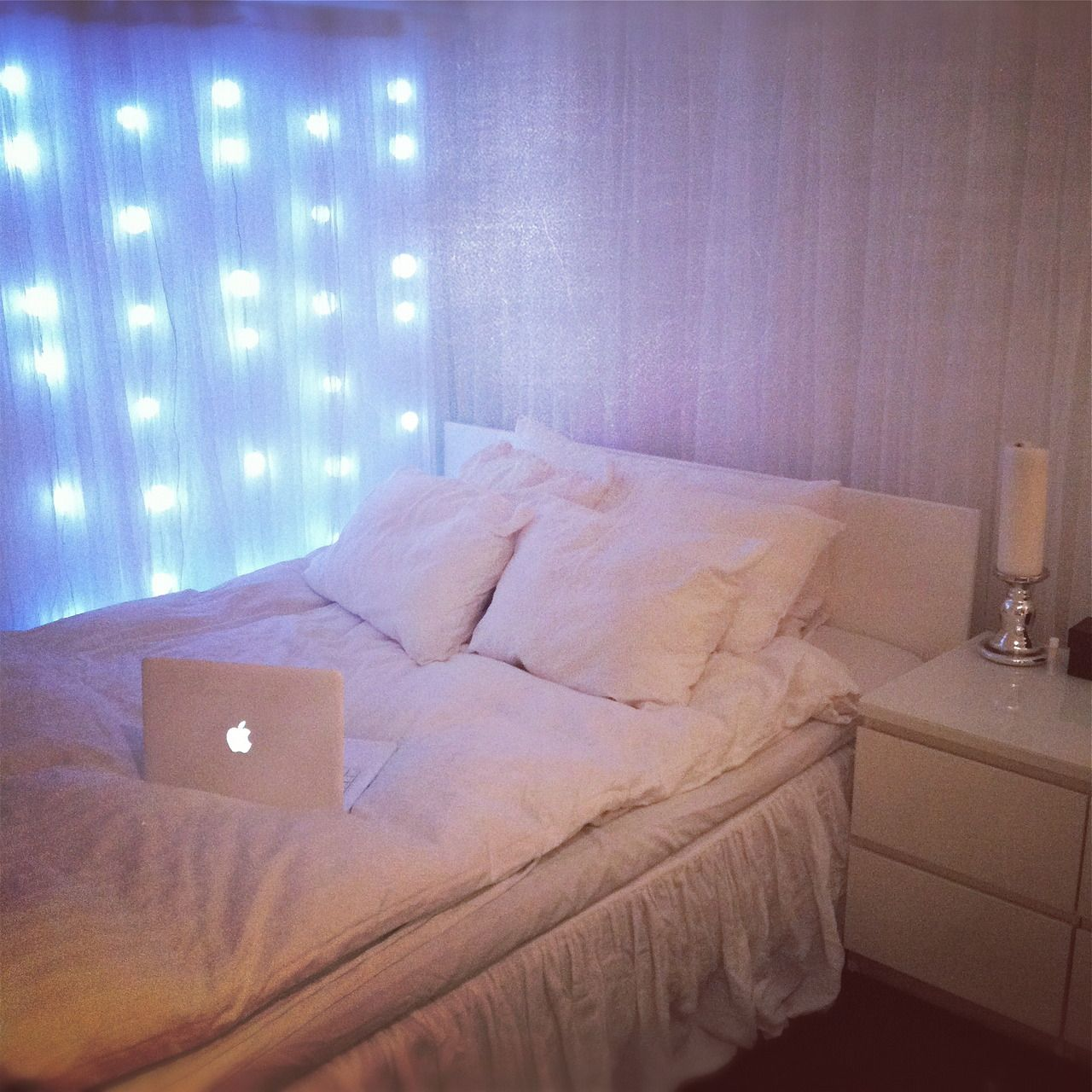 Fairy Lights Bedroom Ideas Part - 20: Fairy Lights For Bedroom 6