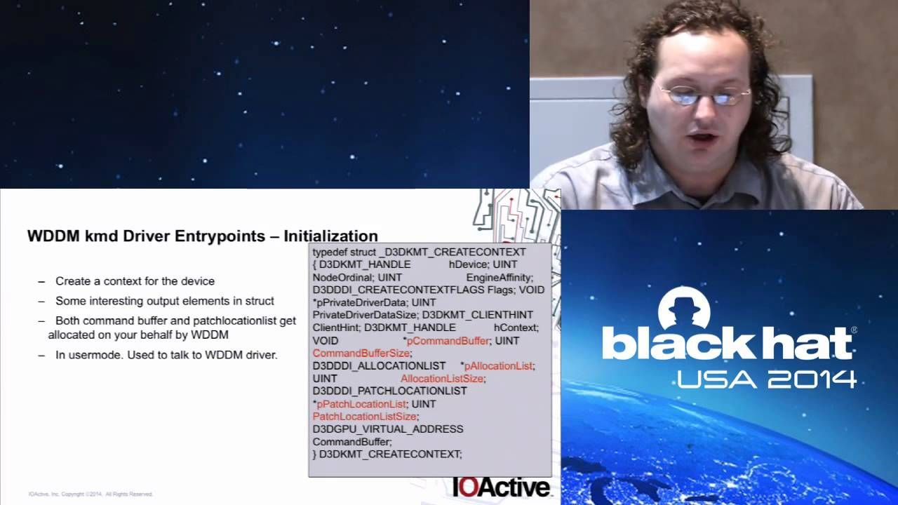 Black Hat USA 2014 - Windows: Windows Kernel Graphics Driver Attack Surface - Playlist of 106 Security Videos