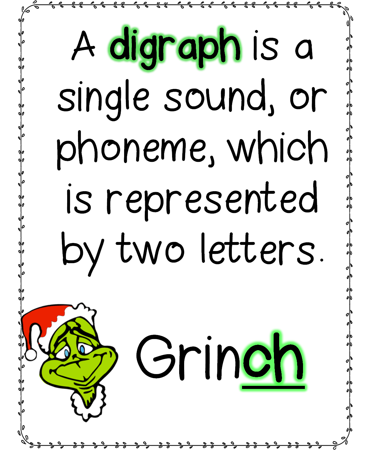 worksheet Grinch Math Worksheets grinchdigraphs png youre a sly one mr grinch png