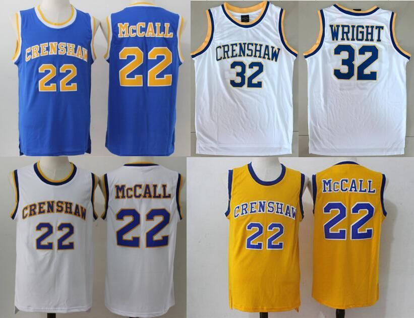43a84913c41d  Visit to Buy  Basketball Jersey McCall 22  32  Movie Jersey CRENSHAW Love