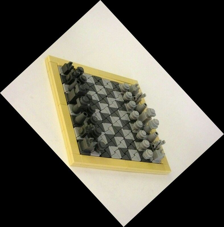 Chess board in 14x14 tiles