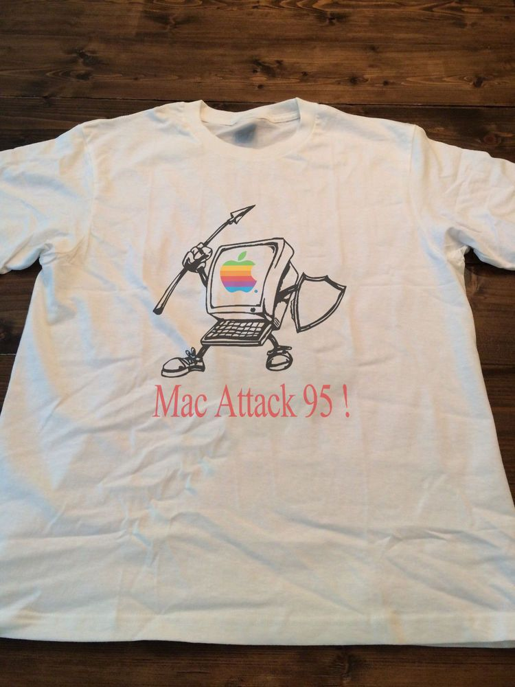 809b02ab4d0a40 Vintage Apple Computers Mac Attack 95 Macintosh T shirt reprint 90s GILDAN S-3XL   fashion  clothing  shoes  accessories  mensclothing  shirts (ebay link)