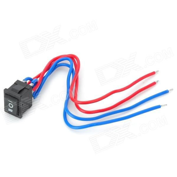 12A DC Motor Manual Forward / Reverse Switch w/ Cable - Black + Red ...