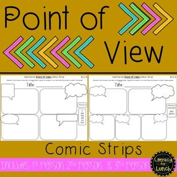 Aligned With Rl4 6 This Product Includes The Following 2 Comic Strip Templates For 1st Person 2nd