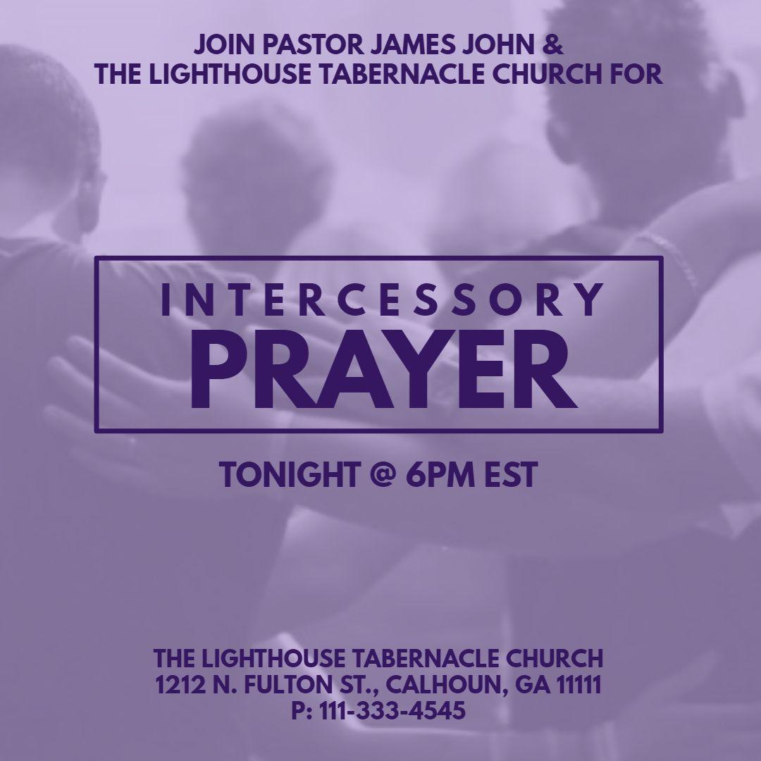 Church prayer event Instagram social media post template